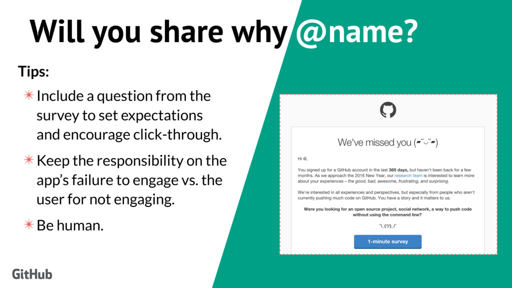 Will you share why @name? Tips: ✴Include a ques...