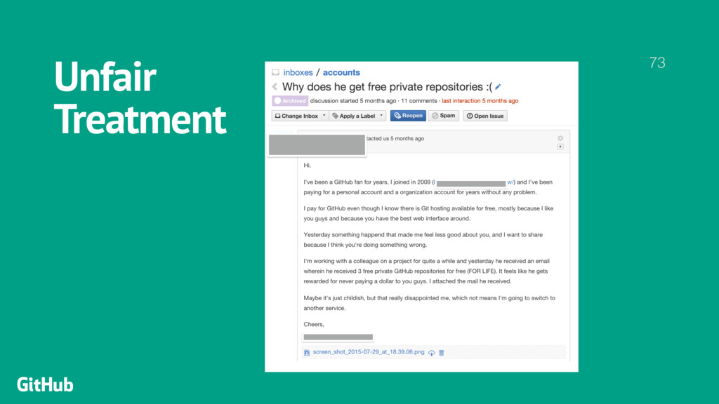 Unfair  Treatment 73 GitHub