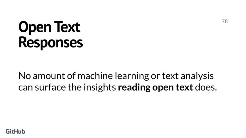 Open Text Responses 78 No amount of machine lea...