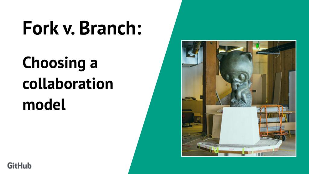 Fork v. Branch: Choosing a collaboration model ...