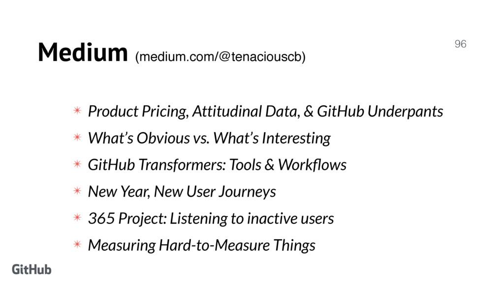 Medium (medium.com/@tenaciouscb) 96 ✴ Product P...