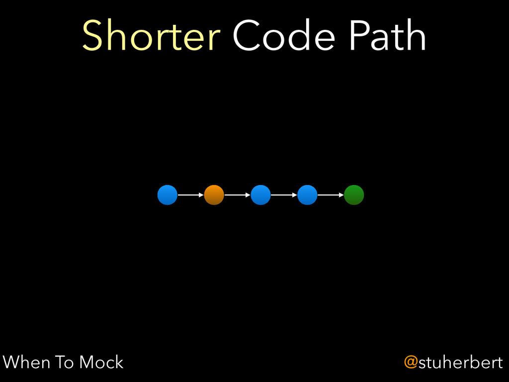 @stuherbert Shorter Code Path When To Mock