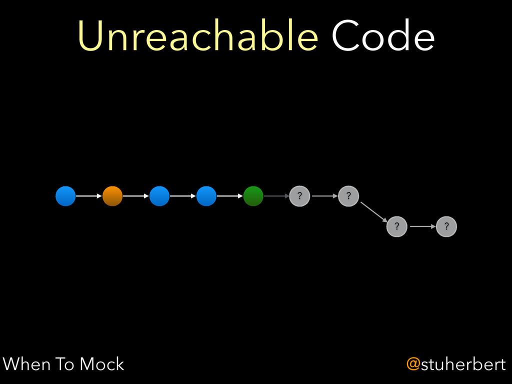 @stuherbert ? Unreachable Code When To Mock ? ?...