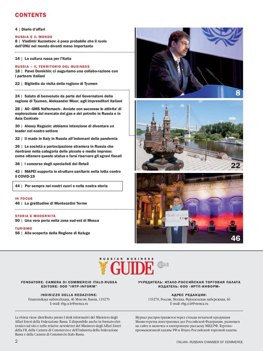 CONTENTS 4 | Diario d'affari RUSSIA E IL MONDO ...
