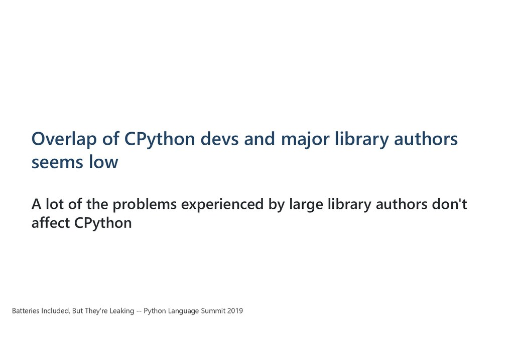 Overlap of CPython devs and major library autho...
