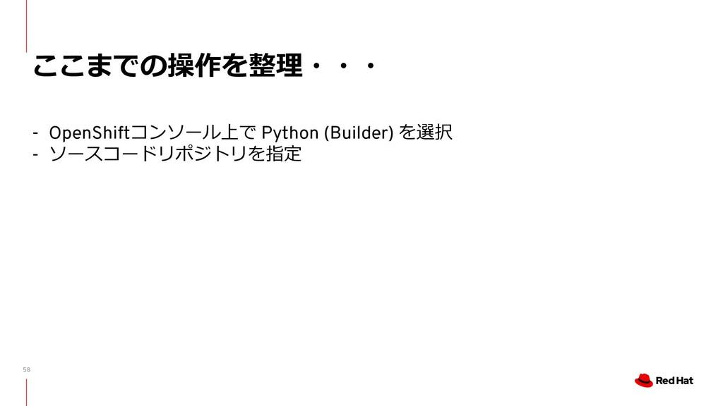 58 ここまでの操作を整理・・・ - OpenShiftコンソール上で Python (Bui...