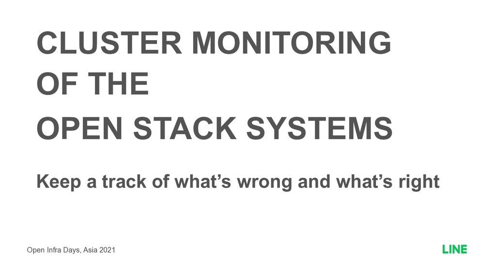 CLUSTER MONITORING   OF THE  OPEN STACK SYSTEM...