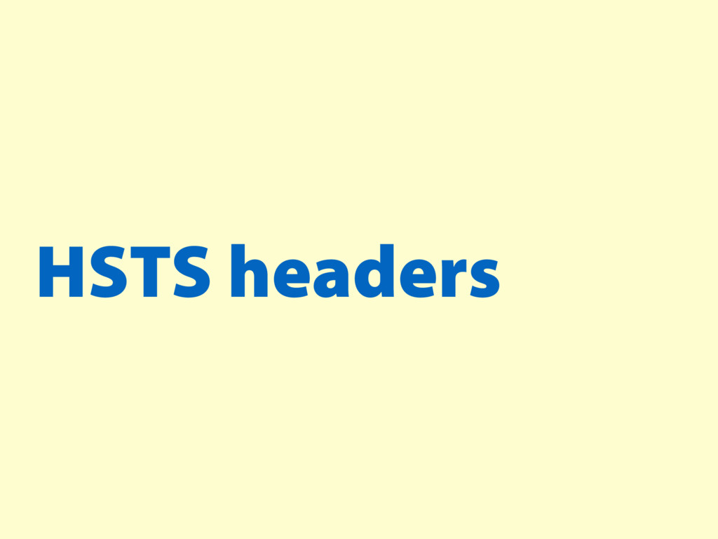 HSTS headers