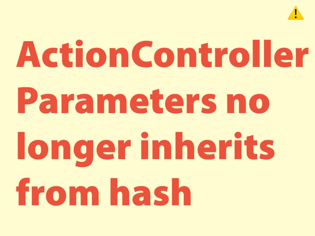 ActionController Parameters no longer inherits ...