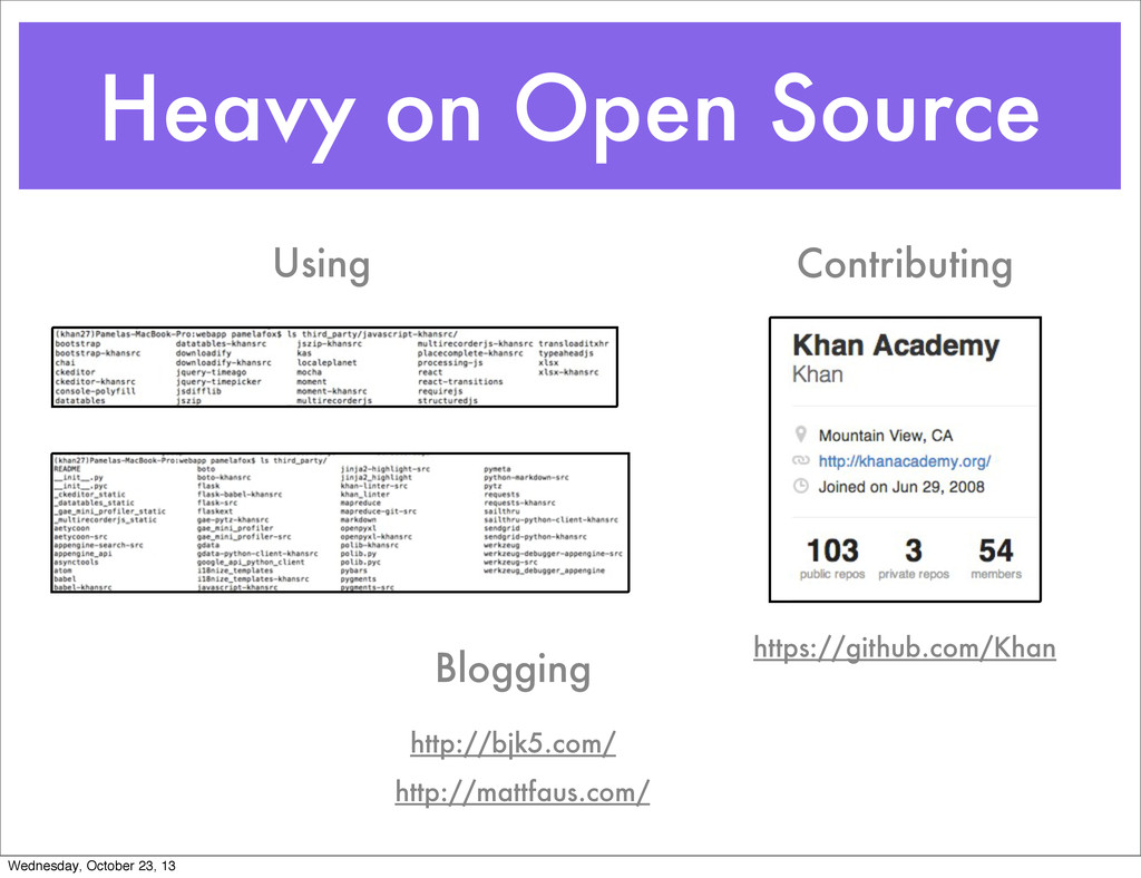 Heavy on Open Source Using Contributing https:/...