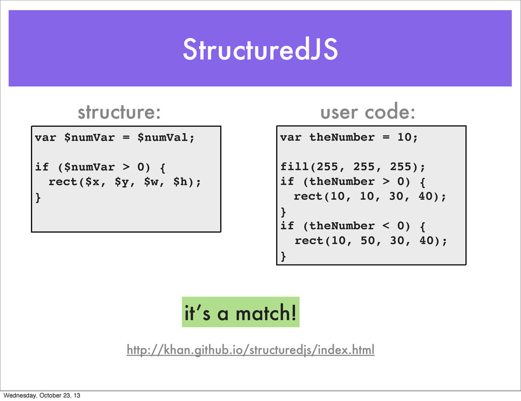 StructuredJS http://khan.github.io/structuredjs...