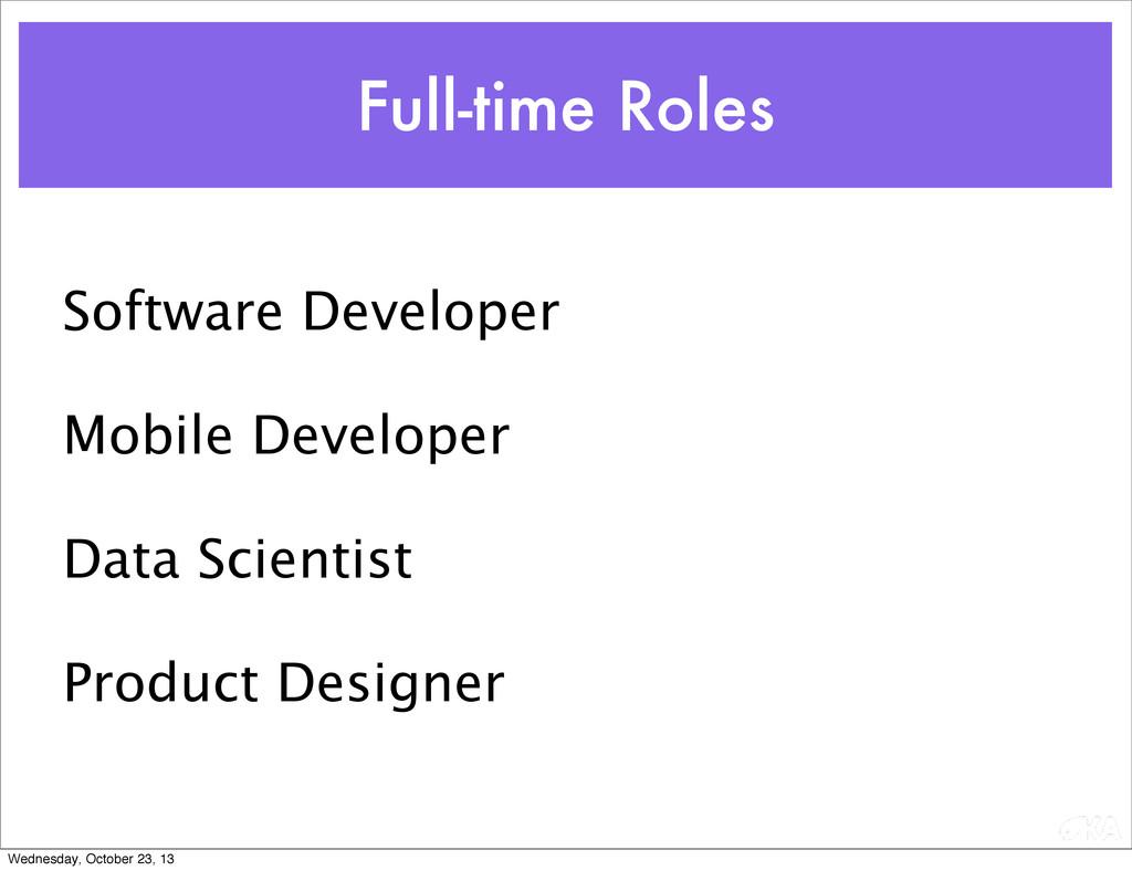 Software Developer Mobile Developer Data Scient...