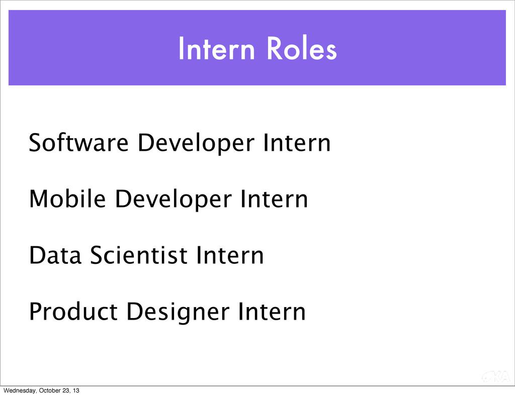 Software Developer Intern Mobile Developer Inte...