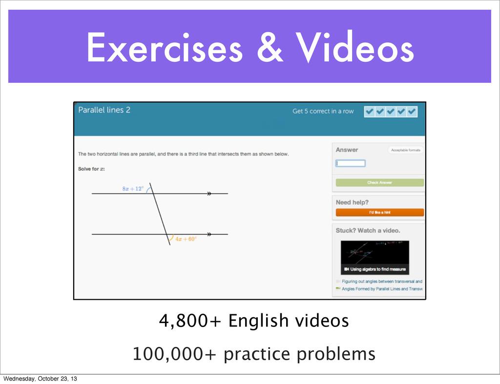 Exercises & Videos 4,800+ English videos 100,00...