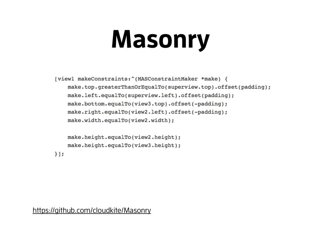 Masonry https://github.com/cloudkite/Masonry