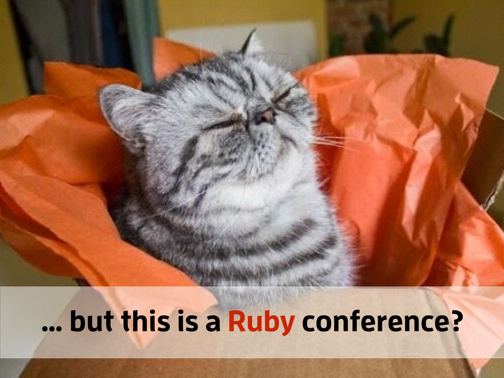 … but this is a Ruby conference?