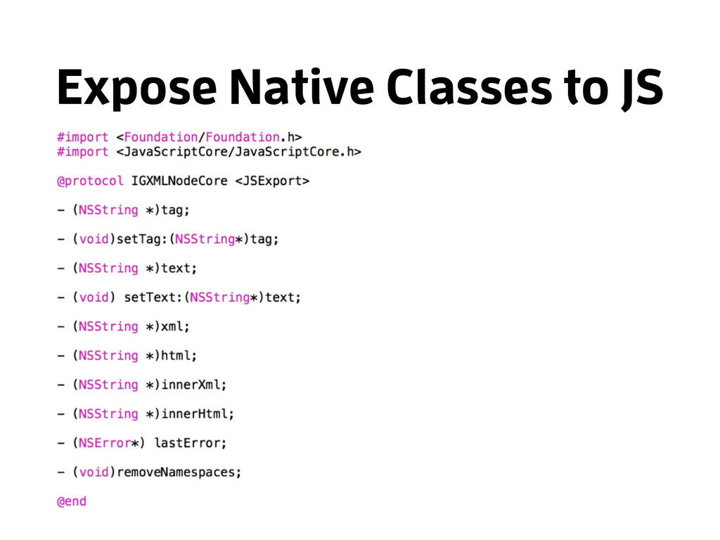 Expose Native Classes to JS