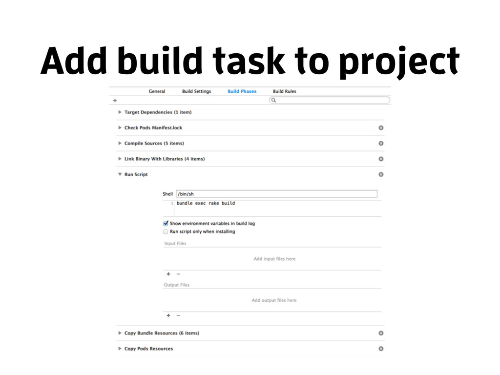 Add build task to project