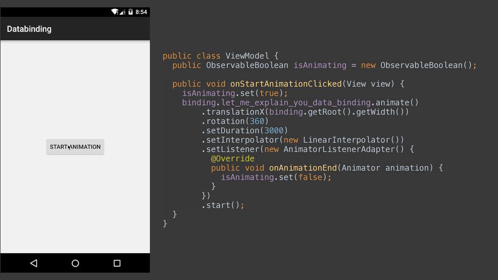 public class ViewModel { public ObservableBool...