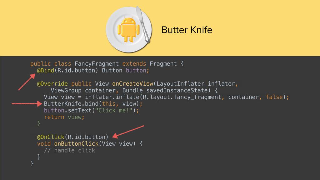 Butter Knife public class FancyFragment extends...