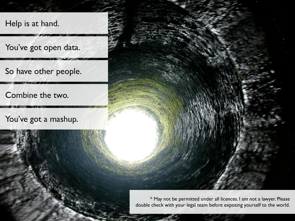 Help is at hand. You've got open data. So have ...