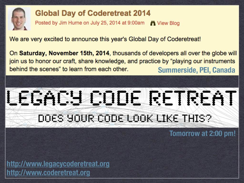 http://www.coderetreat.org http://www.legacycod...