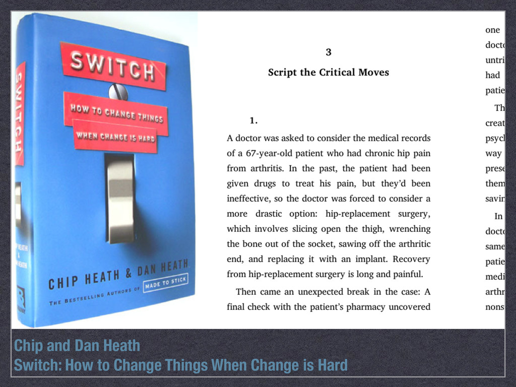 Chip and Dan Heath Switch: How to Change Things...