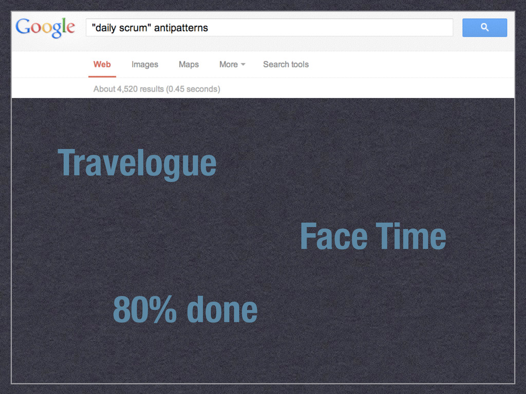 Travelogue Face Time 80% done