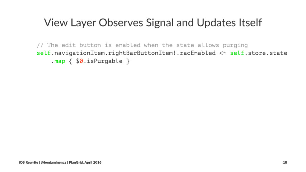 View Layer Observes Signal and Updates Itself /...