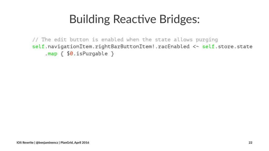 Building Reac-ve Bridges: // The edit button is...