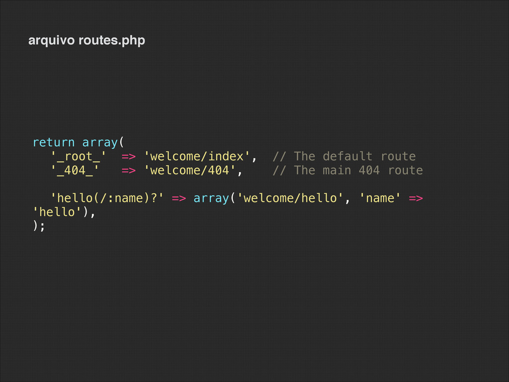 arquivo routes.php return array( '_root_' => 'w...