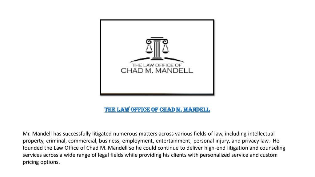 Mr. Mandell has successfully litigated numerous...