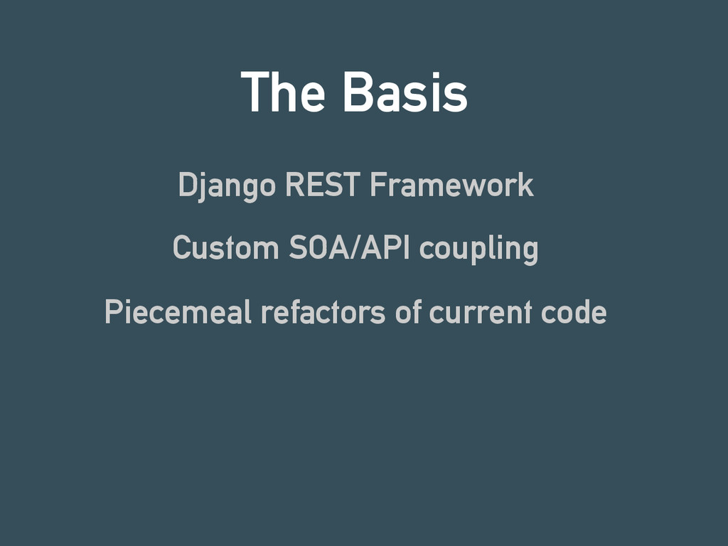 The Basis Django REST Framework Custom SOA/API ...
