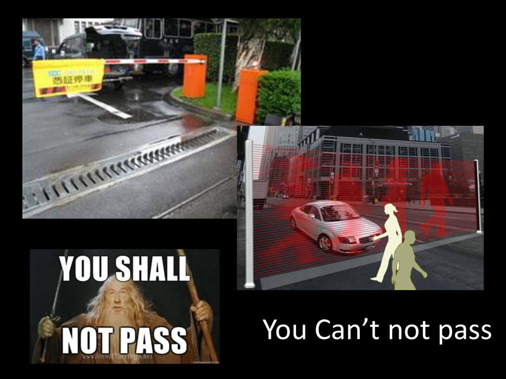 You Can't not pass