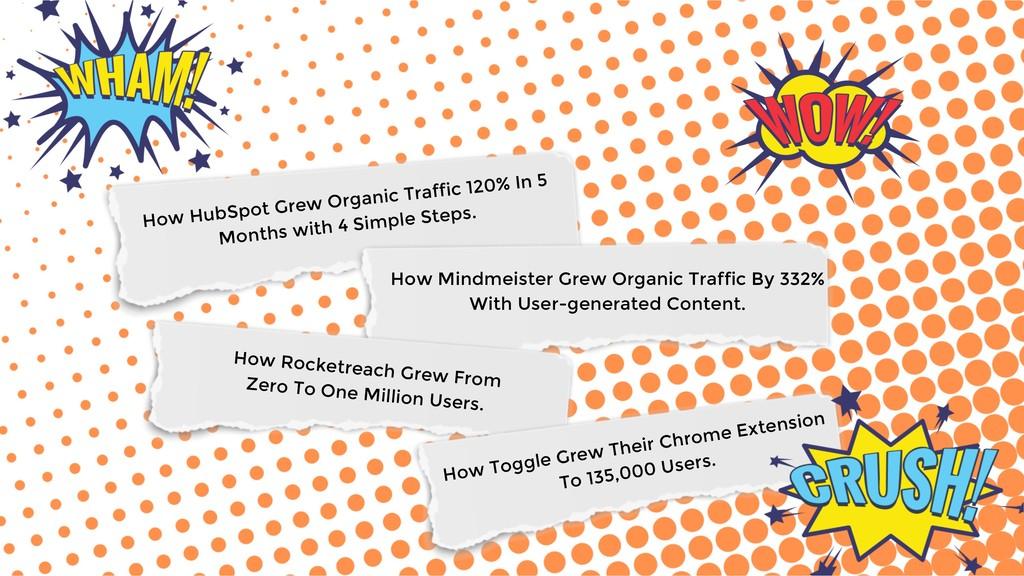 So many ideas How HubSpot Grew Organic Traffic ...