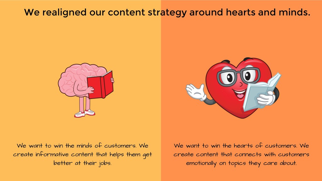 We want to win the minds of customers. We creat...