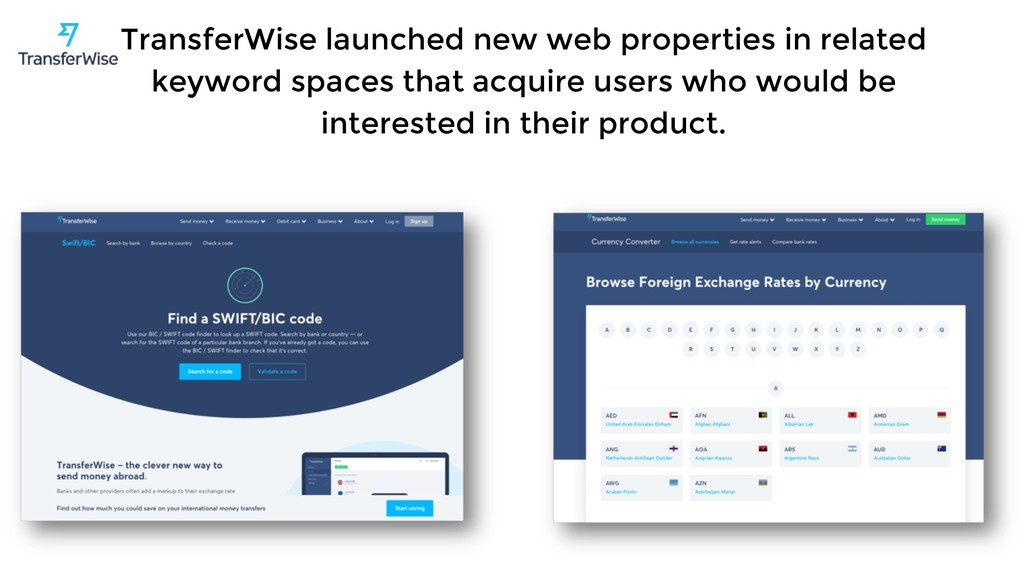 TransferWise launched new web properties in rel...
