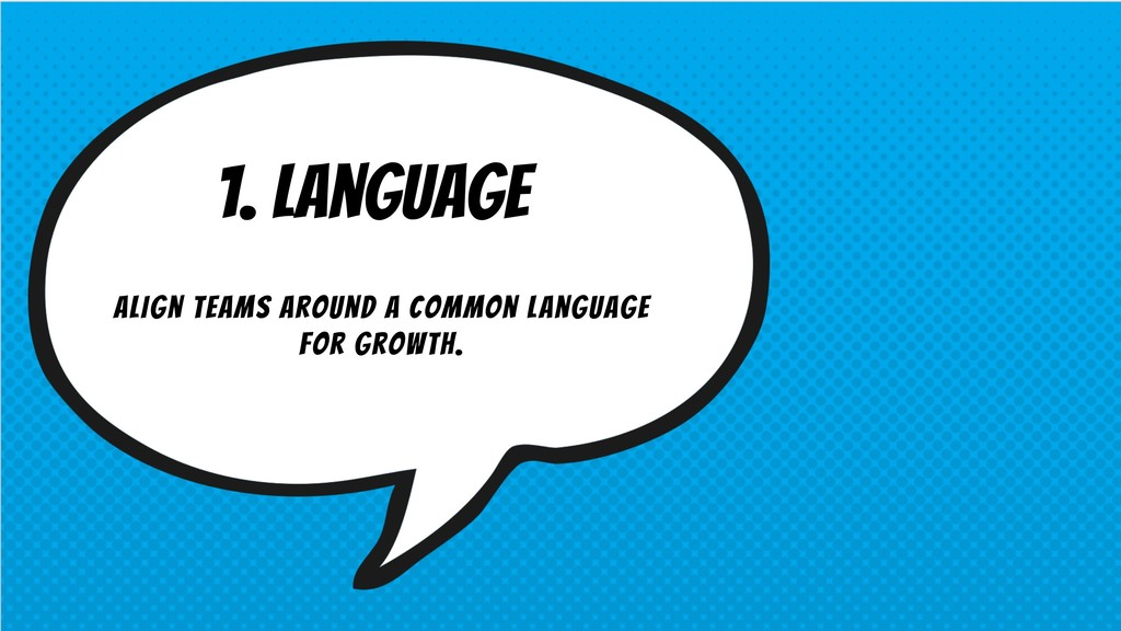 1. Language Align teams around a common languag...