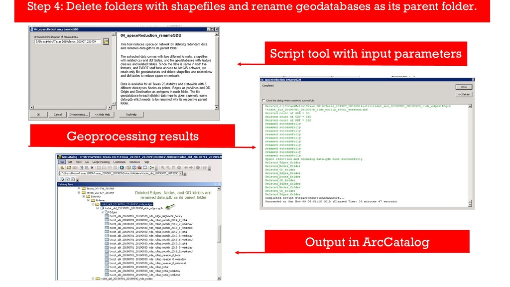 Script tool with input parameters Geoprocessing...