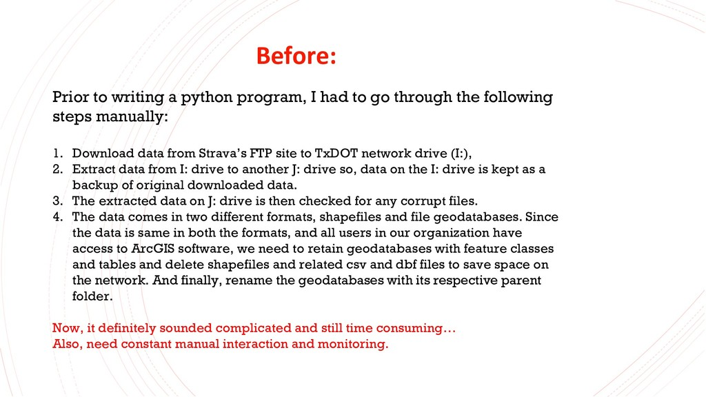 Before: Prior to writing a python program, I ha...