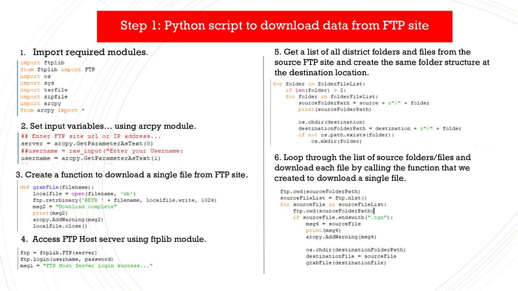 Step 1: Python script to download data from FTP...