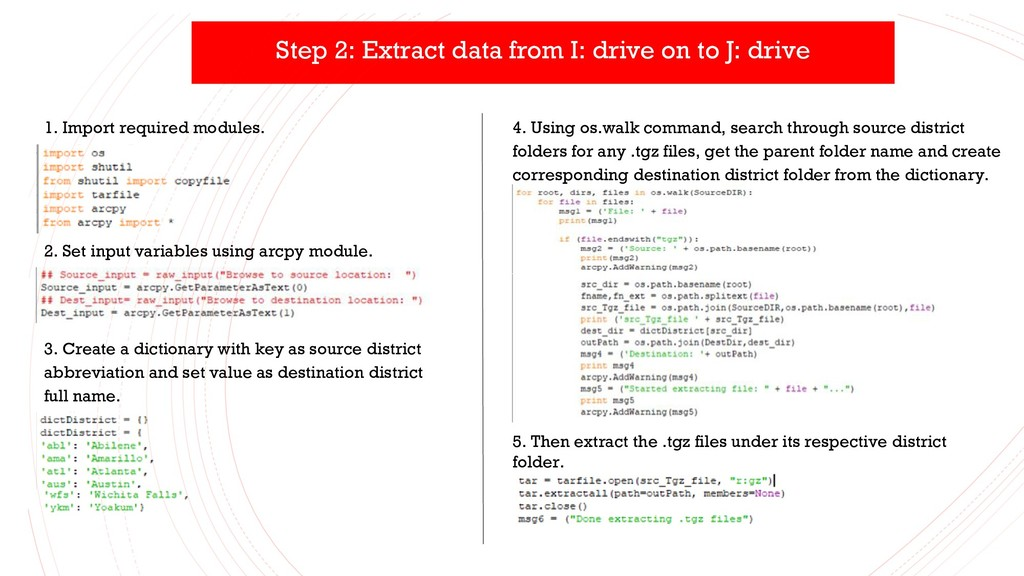 Step 2: Extract data from I: drive on to J: dri...