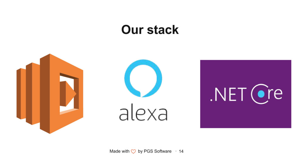Made with by PGS Software · 14 Our stack