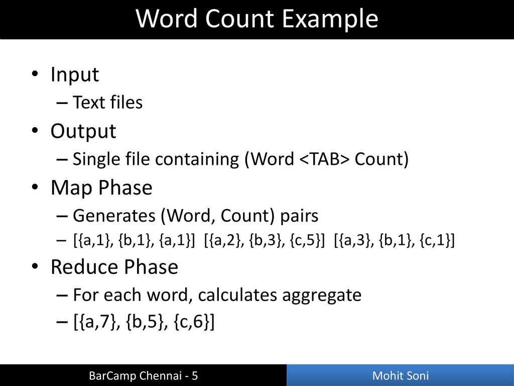 • Input – Text files • Output – Single file con...