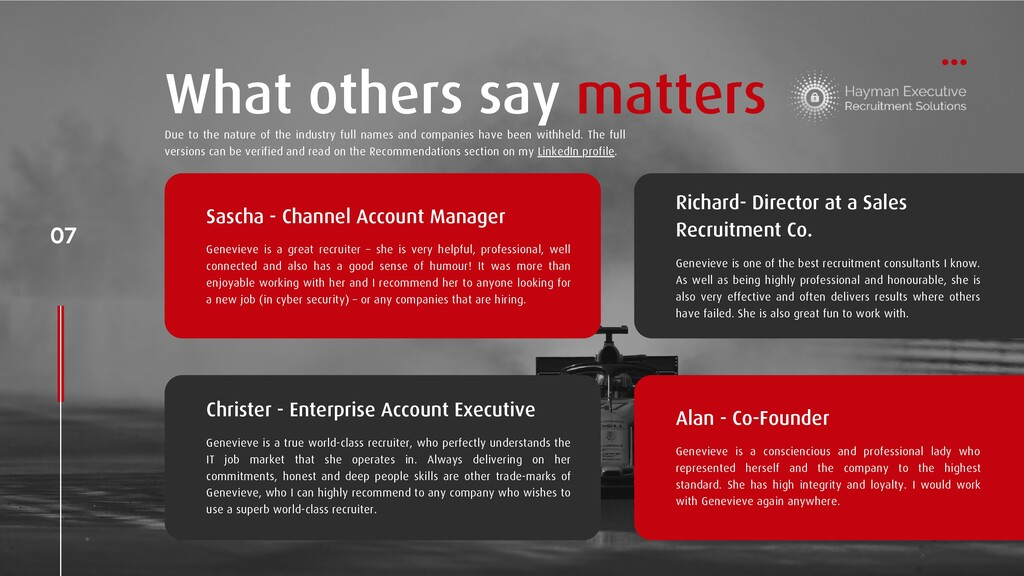 07 What others say matters Sascha - Channel Acc...