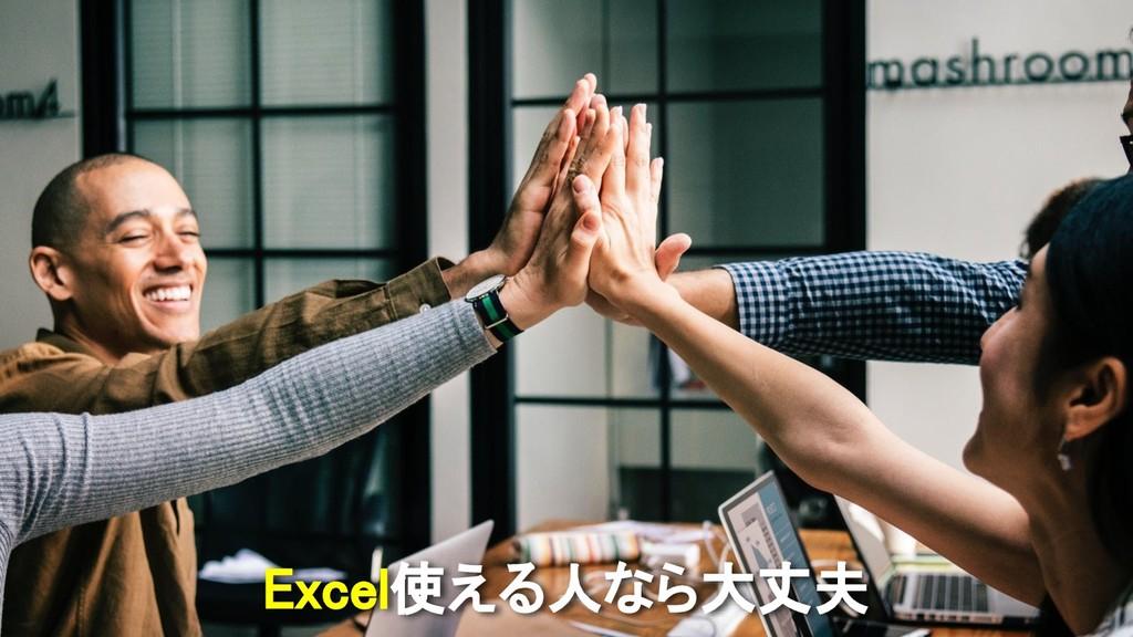 Excel使える人なら大丈夫
