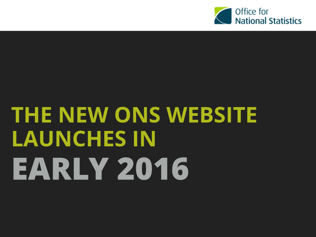 THE NEW ONS WEBSITE LAUNCHES IN  EARLY 2016