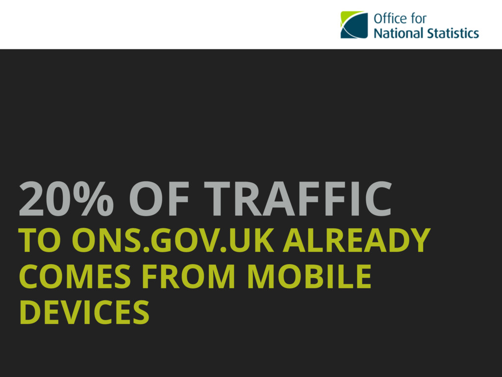 20% OF TRAFFIC TO ONS.GOV.UK ALREADY COMES FROM...