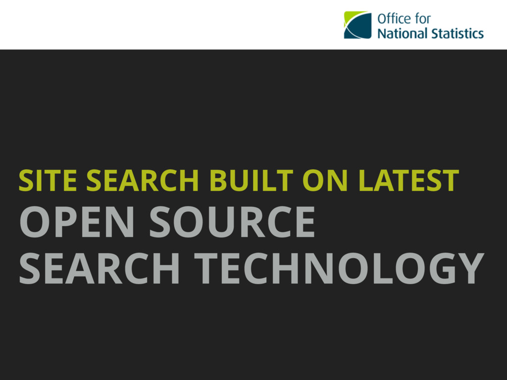 SITE SEARCH BUILT ON LATEST OPEN SOURCE SEARCH ...