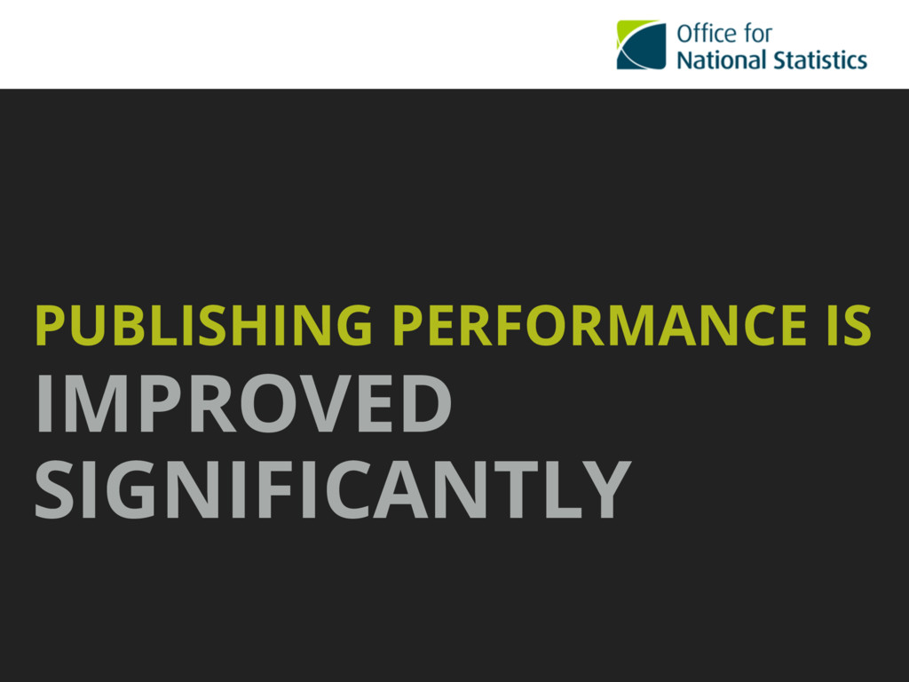 PUBLISHING PERFORMANCE IS IMPROVED SIGNIFICANTLY
